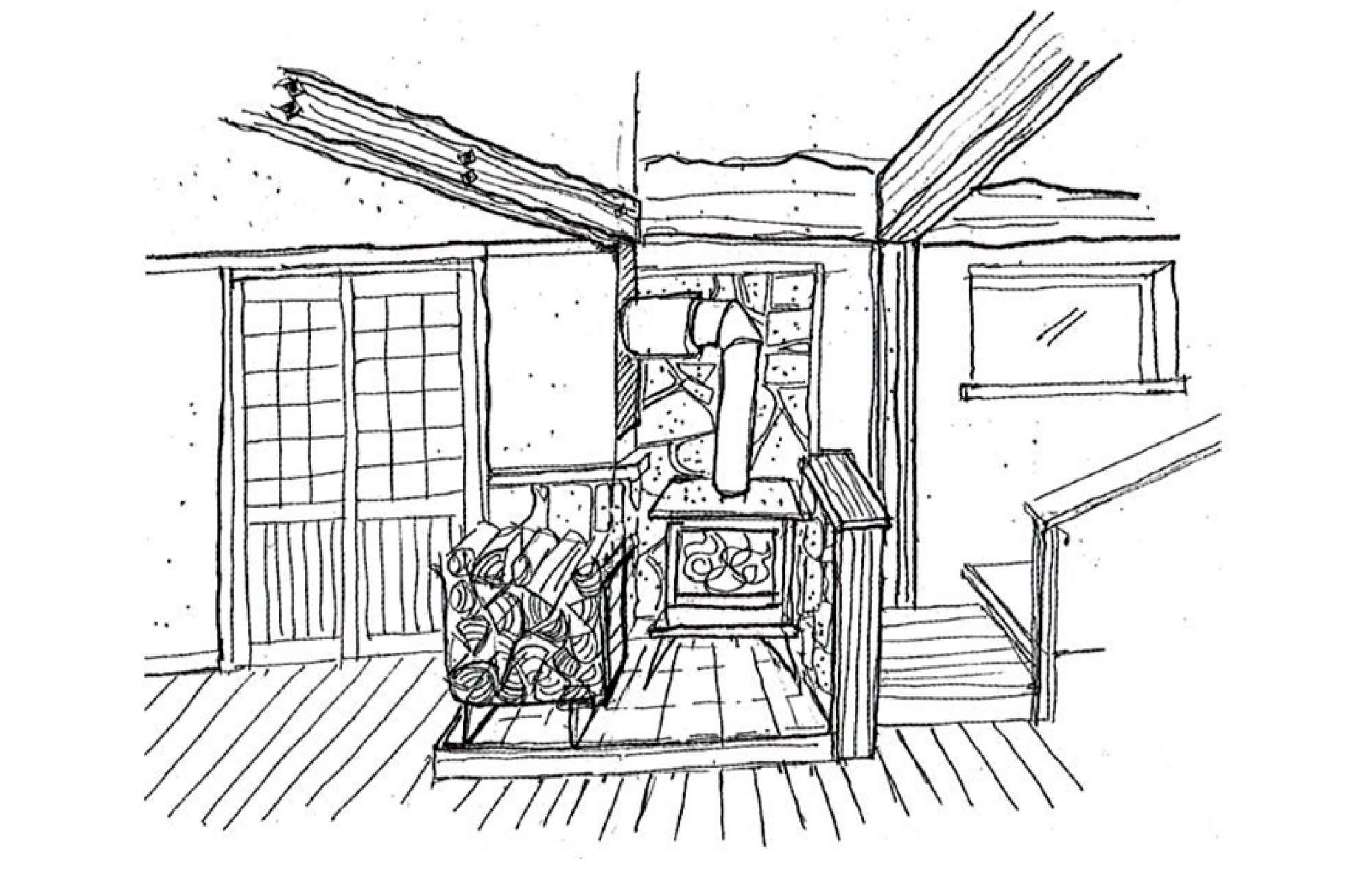 - 新築のお客様で、「新居には薪ストーブをつけたい!」と強く希望されている方がいらっしゃいました。仕事から帰り、自宅で薪ストーブの炎を眺めながらくつろぎたい、という夢があったようです。お客様は薪ストーブのある家を建てるのを、とても楽しみにしており、打合せの内容も薪ストーブが中心になるほどでした。上棟式の際には田舎にいるご両親もいらっしゃっていました。するとお母さんが私に「薪ストーブなんて困るんだけど!」と訴えてきました。息子さんはとても喜んでいるし、今更はずすわけにはいかないなぁと思いながら、なおも話を聞くと「薪ストーブなんてつけたら、これから私たちが薪を集めてあげないといけないじゃない」と、気のせいか、少しうれしそう。家が完成してから、ご両親は近所の農家の納屋をのぞき、薪が置いてあると持ち主さんに交渉して薪を分けてもらい、息子さんの家に届けているそうです。薪を集めるお母さんの苦労話を聞きながら、再び子どもの世話をすることになったお母さんの姿が、とてもたくましく、輝いて見えました。カサシマ -  -