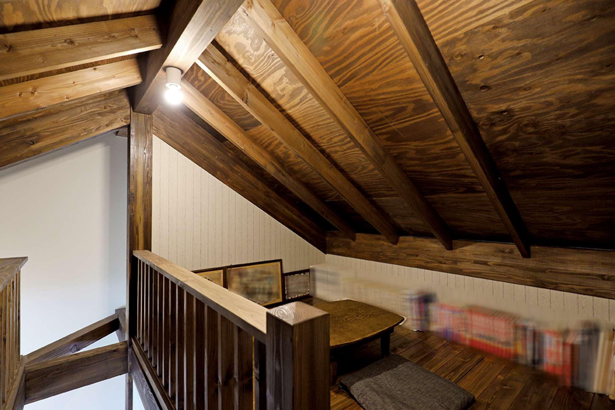 表し天井が迫力満点のロフトも、くつろぎのスペース -  -  -