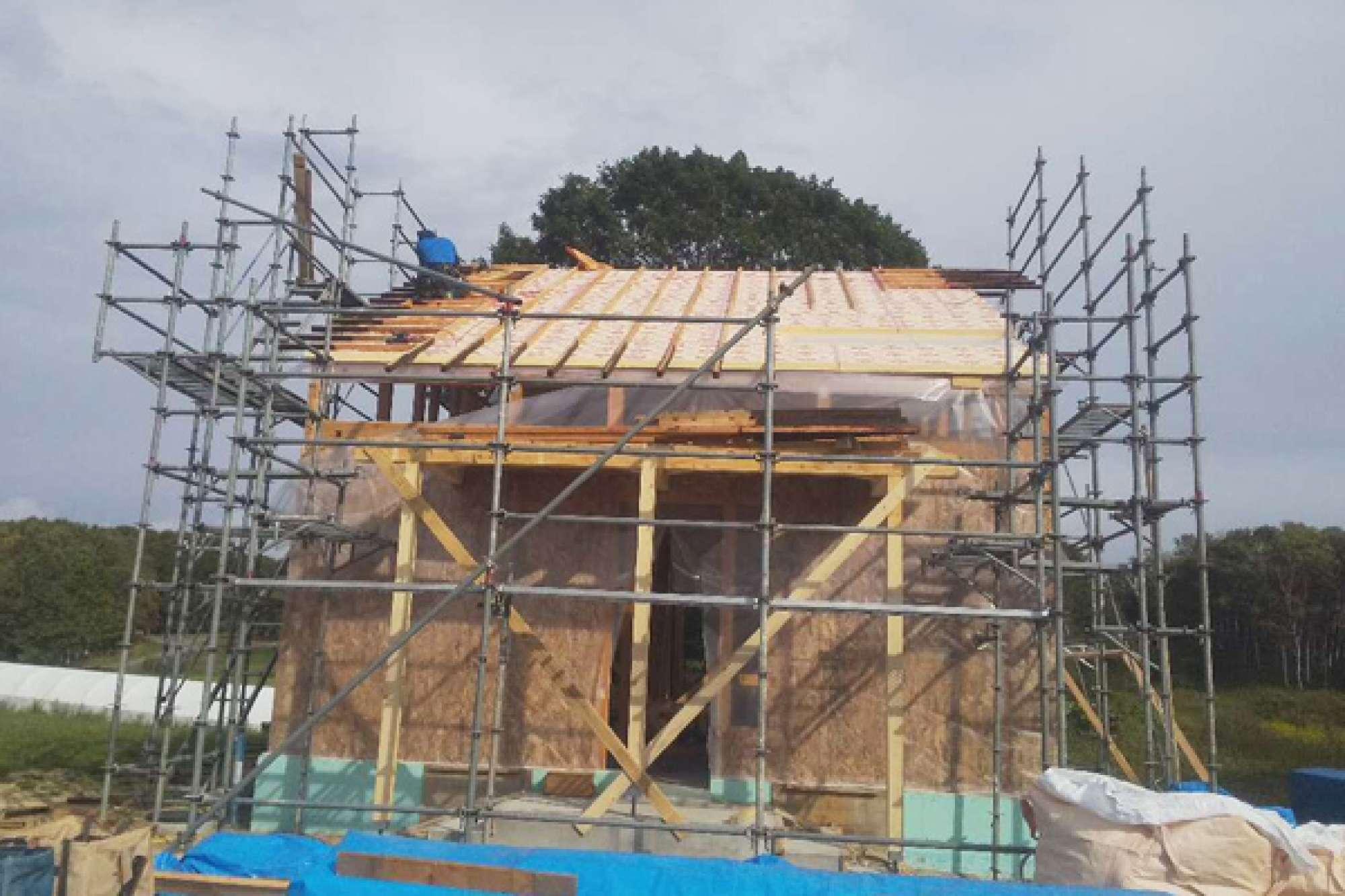 9月18日 屋根造作 -  -  -