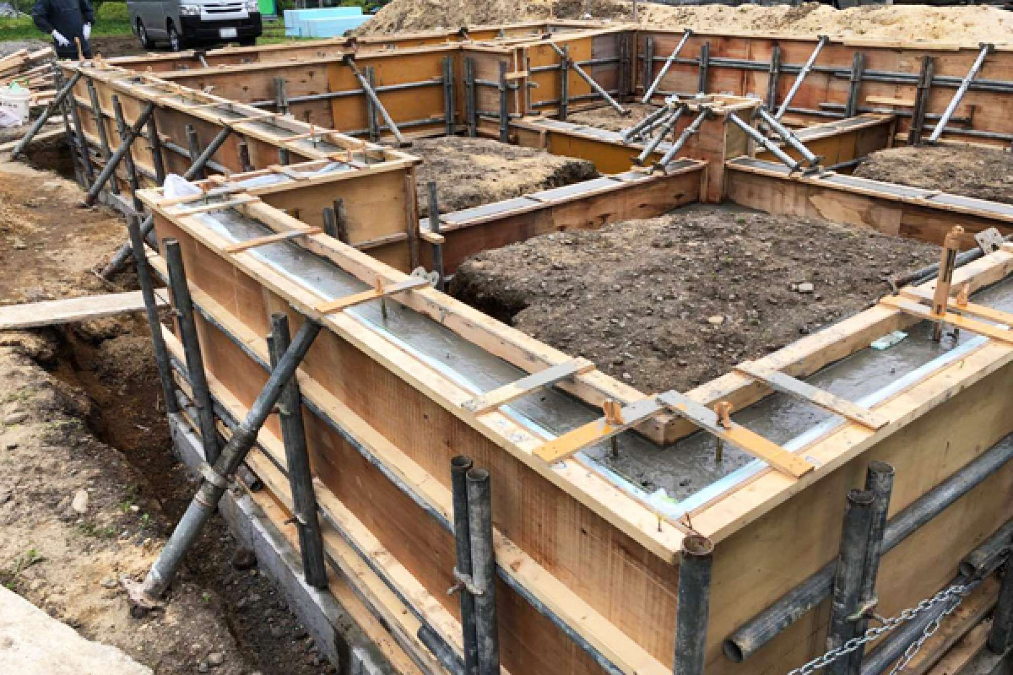 7月23日 コンクリート打設工事 -  -  -
