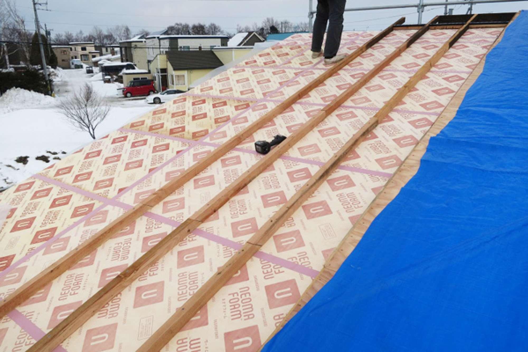 2月18日 屋根造作 -  -  -