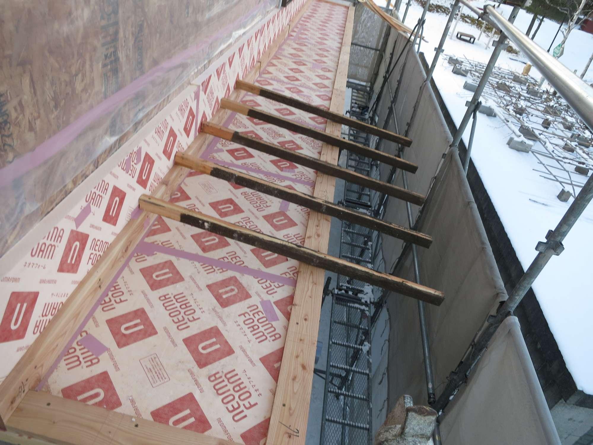11月27日 屋根造作 -  -  -