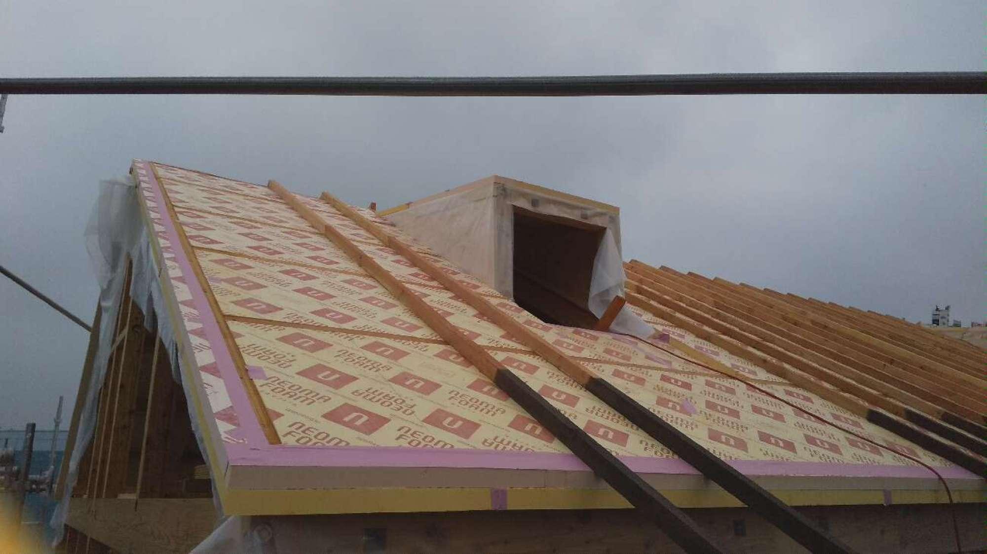 垂木掛け・天窓造作 -  -  -