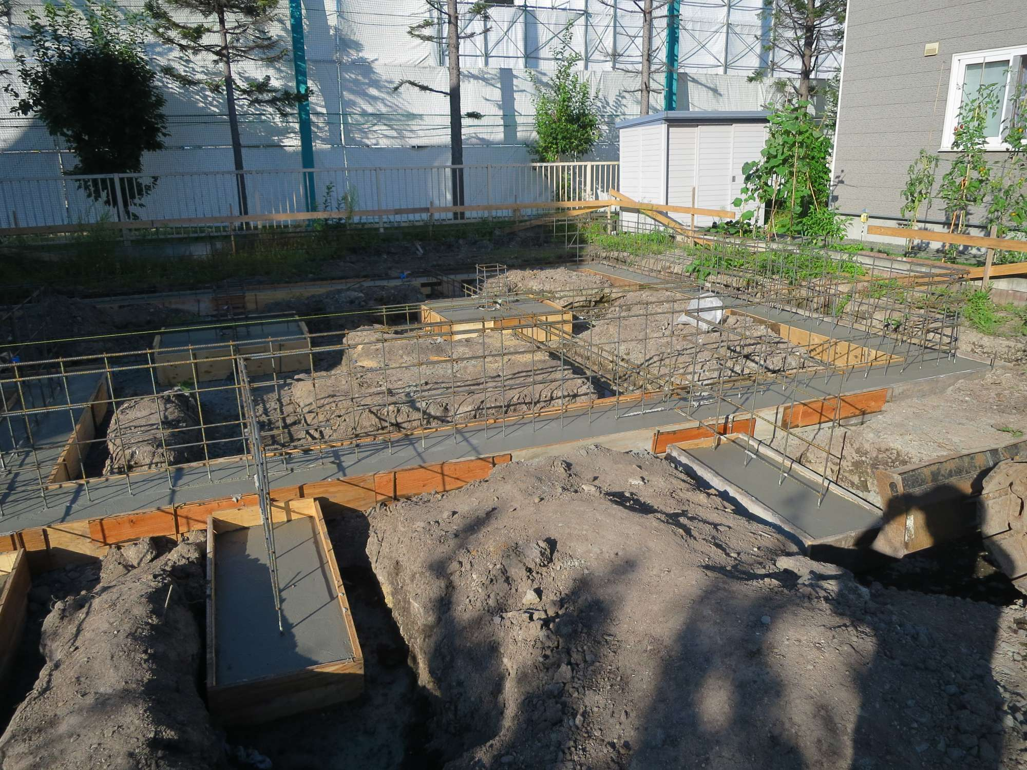 ベース コンクリート打設工事 -  -  -