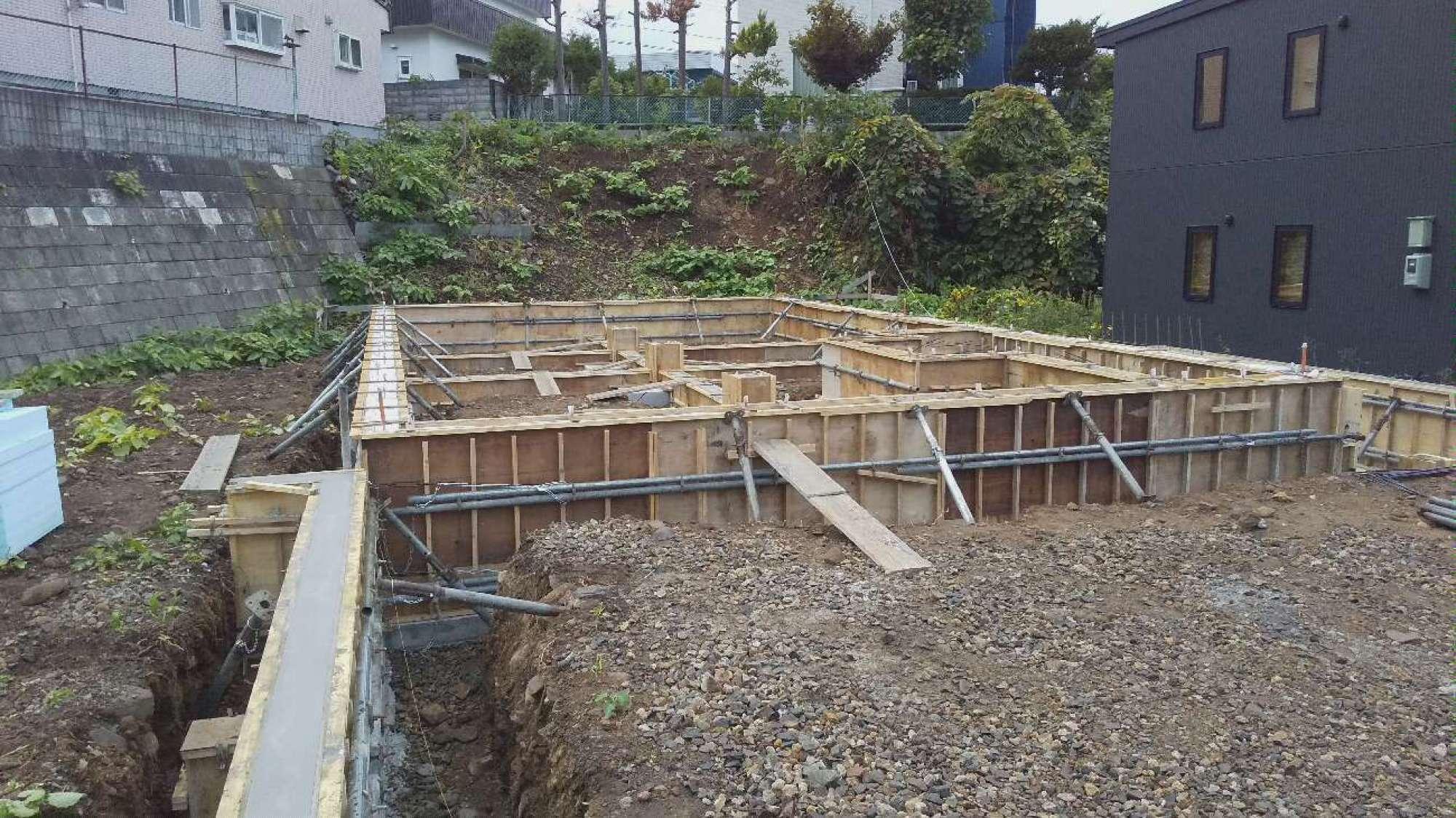 型枠工事・コンクリート打設 -  -  -