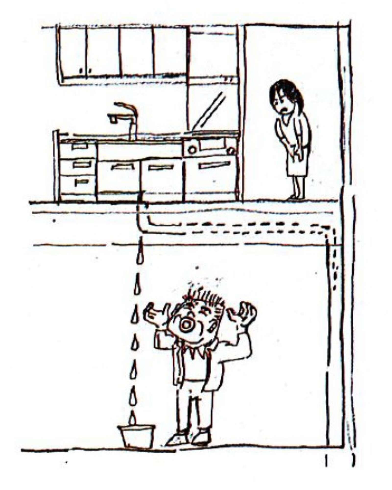 - 築15年が経過したお客様より「2階の台所から水が漏れ、台所の床が濡れて、1階の寝室天井もべしょべしょなってしまった。何とかしてほしい」と、連絡を受けました。早速訪問してみると1階の床にバケツ、洗面器などを置いて水を受けている状態。調査してみると、台所の排水口の接続部から水が漏れています。排水ホースを取り出してみると、ホースが劣化して穴が開いており、そこから水が漏れているのが原因でした。すぐにでも台所が使用できるように、部品(排水ホース)を近隣のホームセンター等で探して手に入れ、すぐに交換をして水漏れは無事に止まりました。今回の事件で、2階の台所の床と1階の羽目板天井にひどい染みや臭いがついてしまう被害が生じていたので、火災保険を申請・適用し、工事を完了する事が出来ました。経年劣化に伴い、ホースも劣化してきますので、この様な事件が発生しないように、10年に1度くらいは点検をしてみることをおすすめします。 -  -