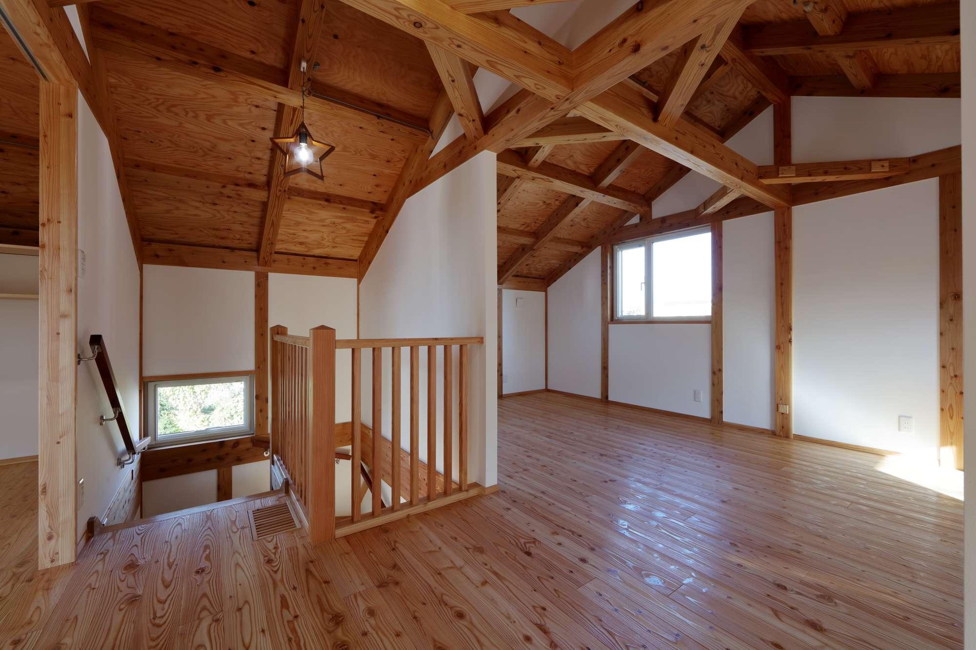 人にも、自分にもやさしくなれる、木組みの家 -  -  -