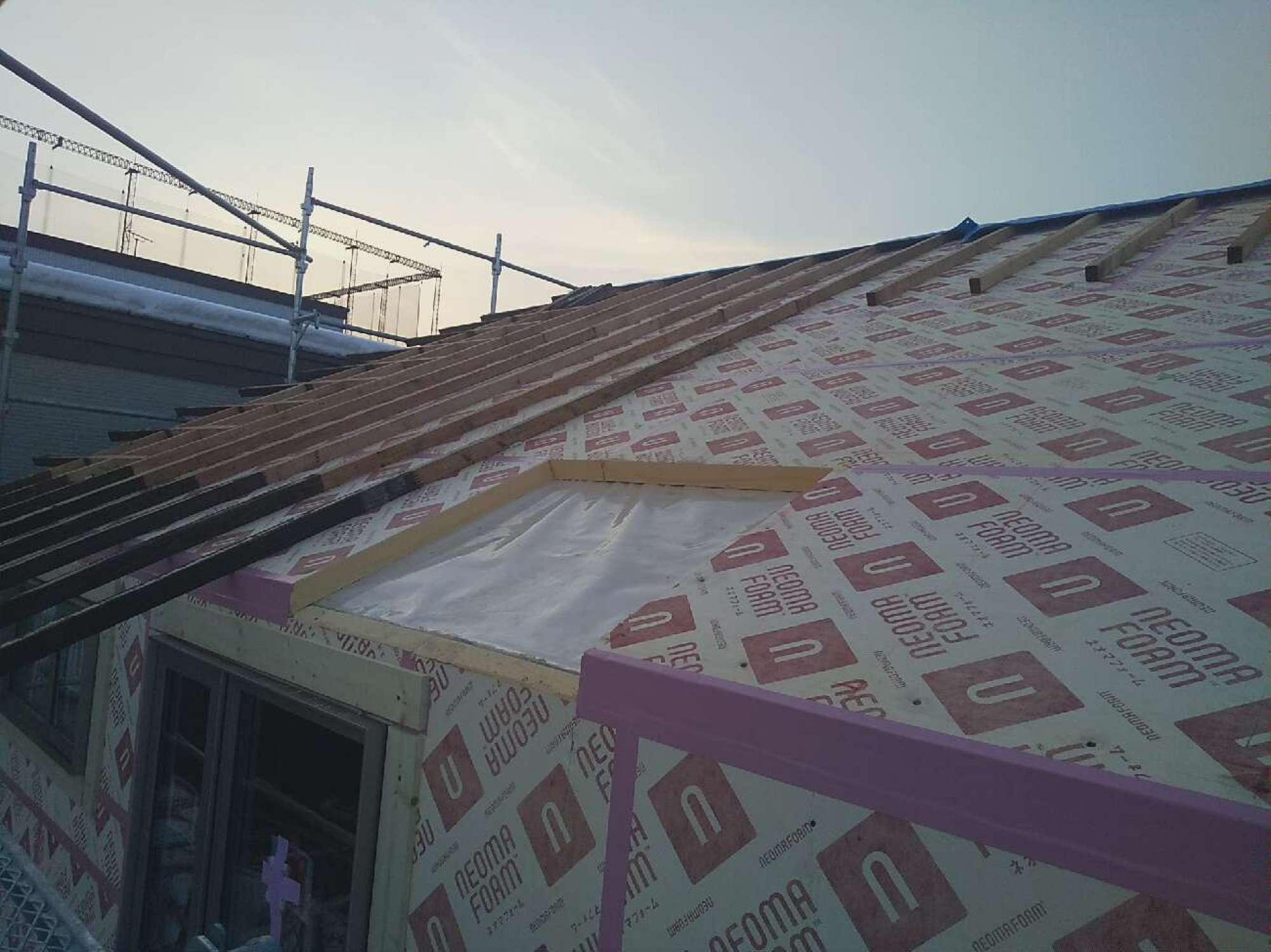屋根 ネオマ貼り・垂木掛け -  -  -