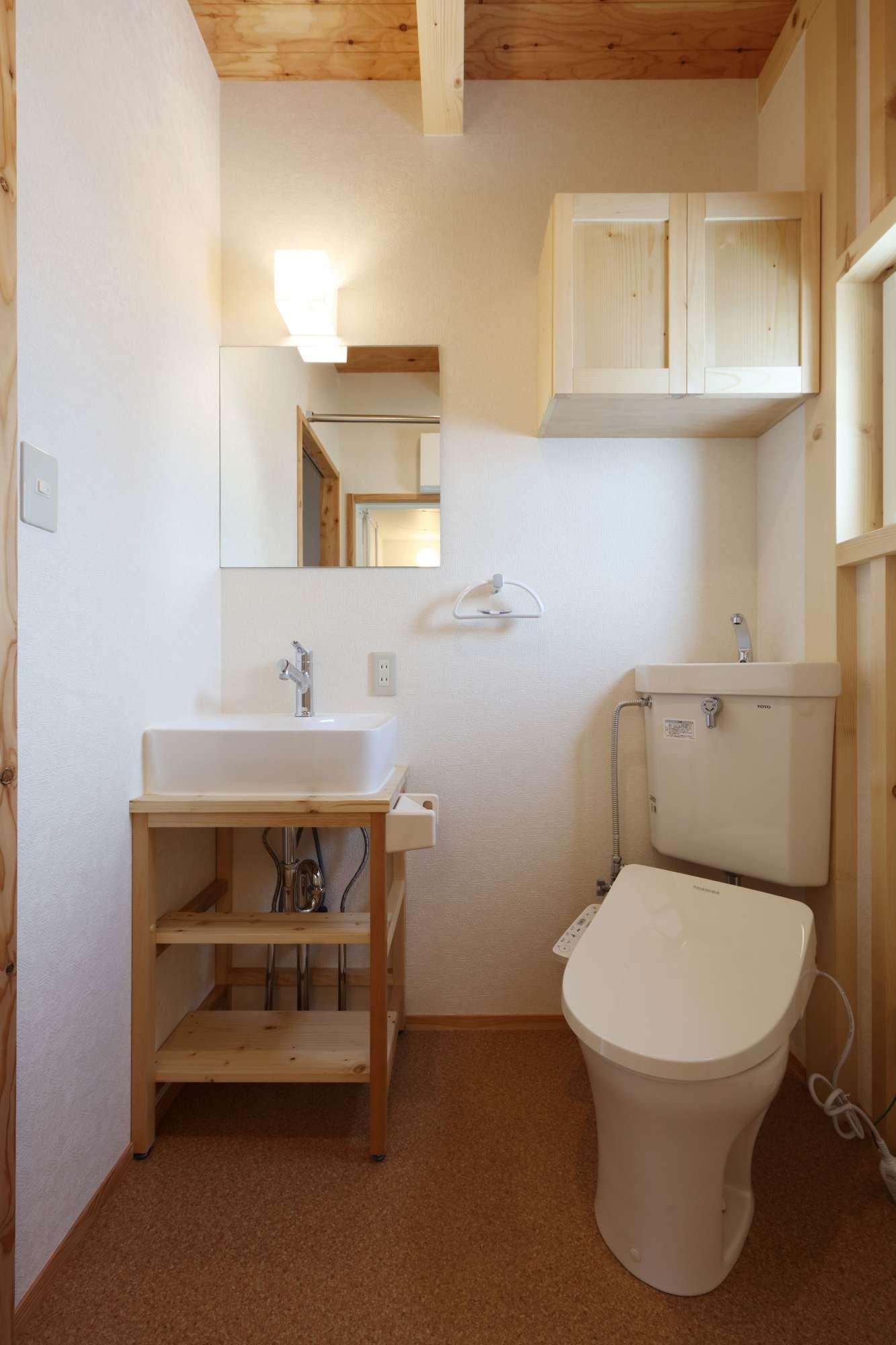 2階 造作洗面台付 ユーティリティー -  -  -