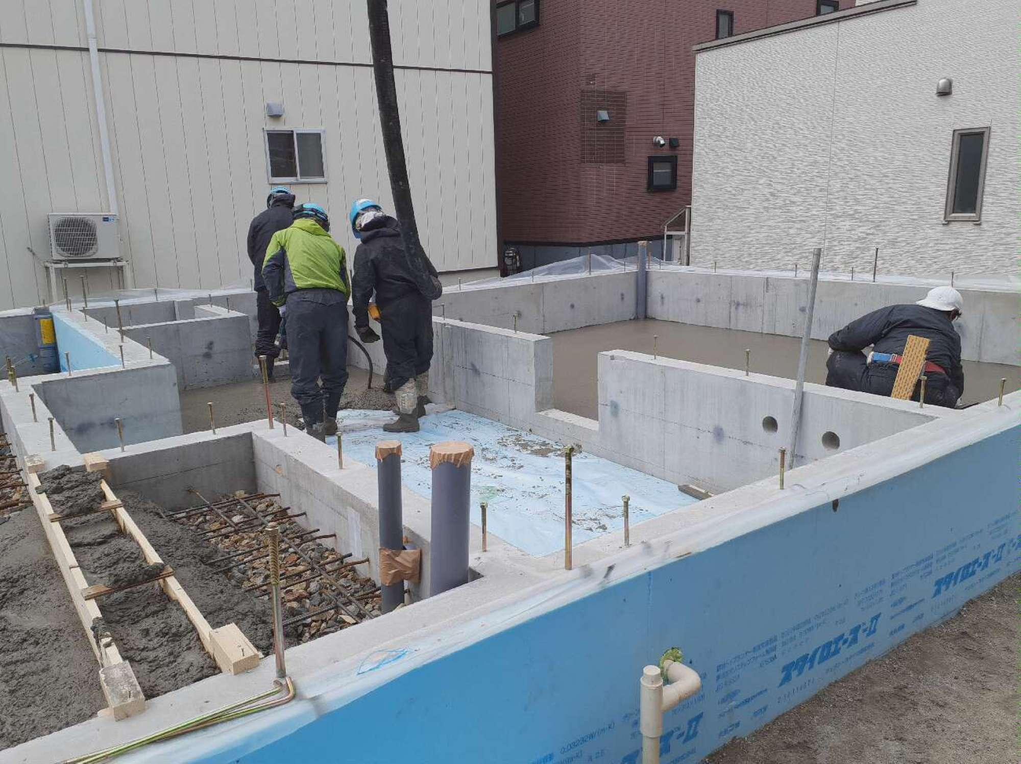 べた基礎 コンクリート打設 -  -  -