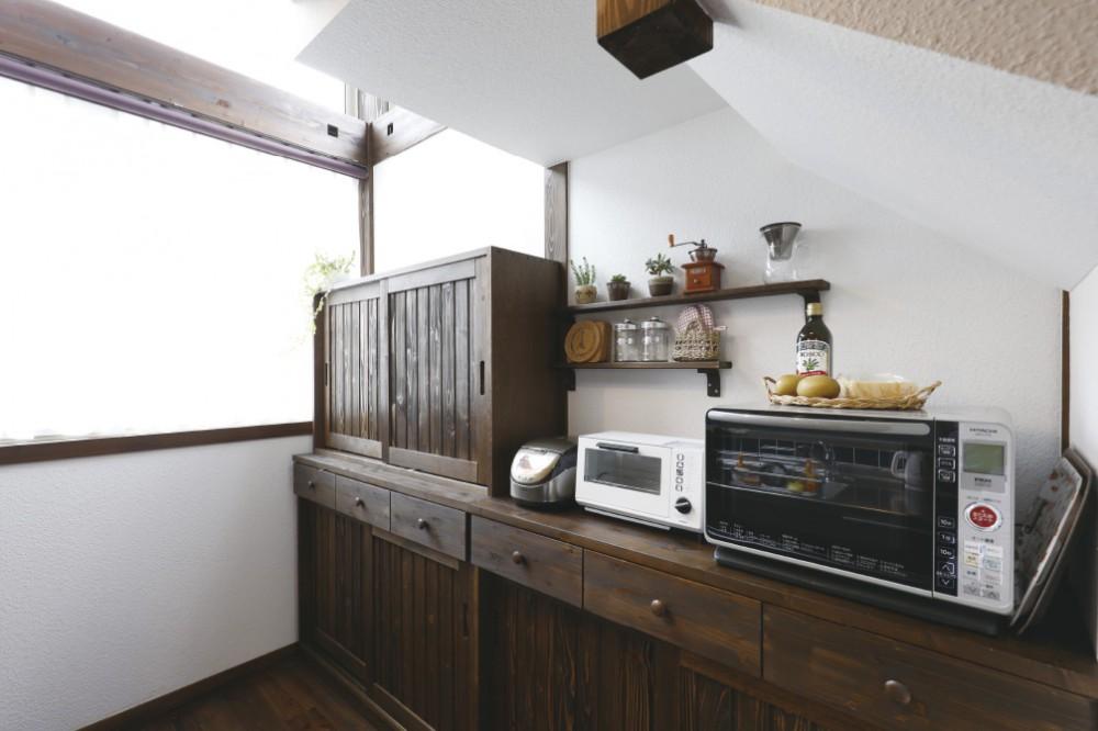 キッチンの収納カウンター -  -  -