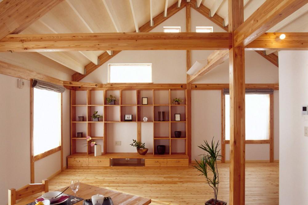 テレビボードと本棚が一体型のデザイン -  -  -