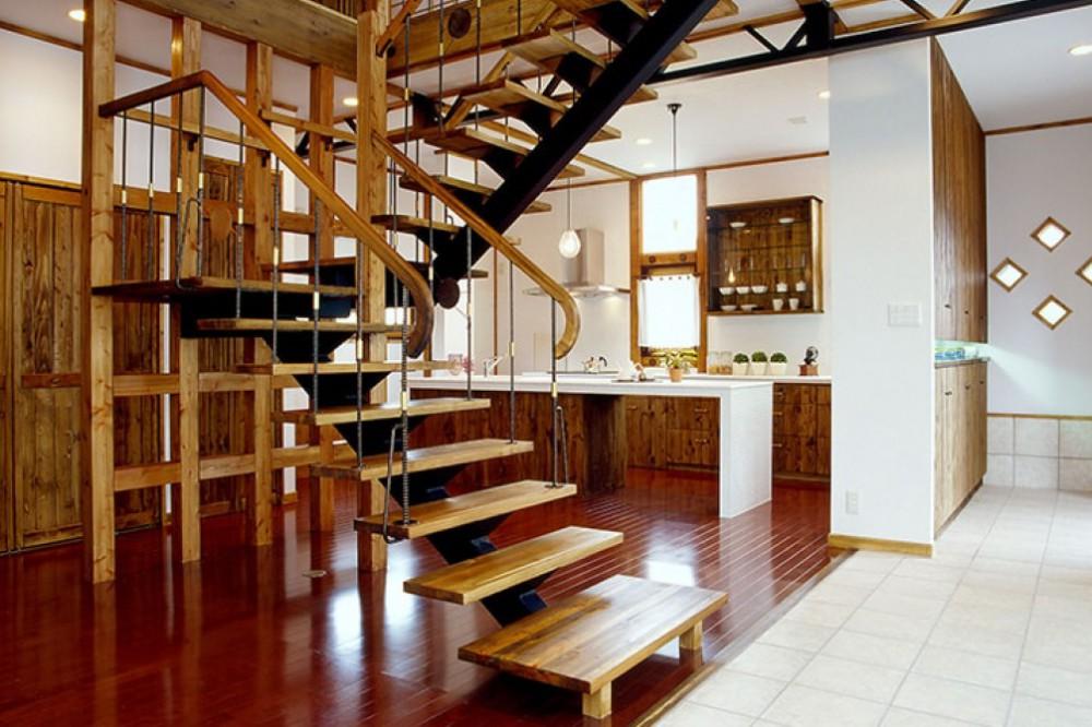 スペースをとらない折り返し階段 -  -  -