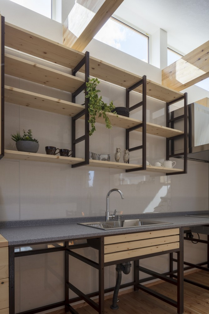 インダストリアルのI型キッチン -  -  -