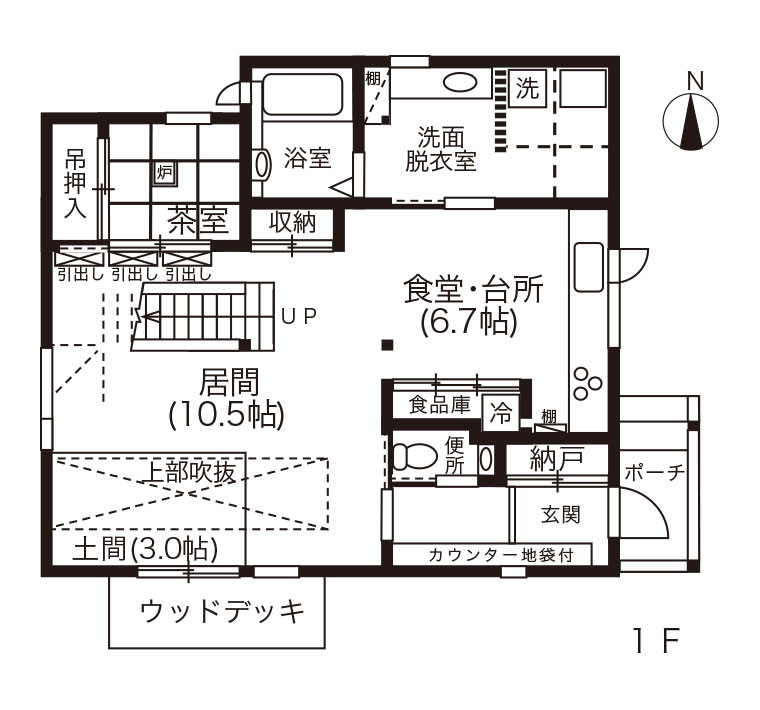 間取図 - 1F