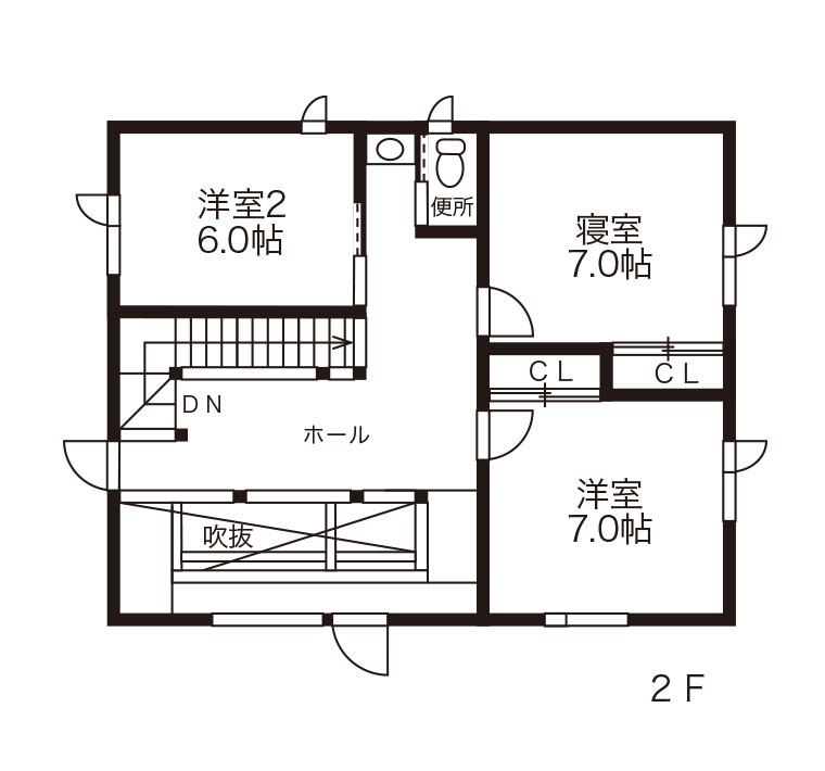 間取図 - 2F